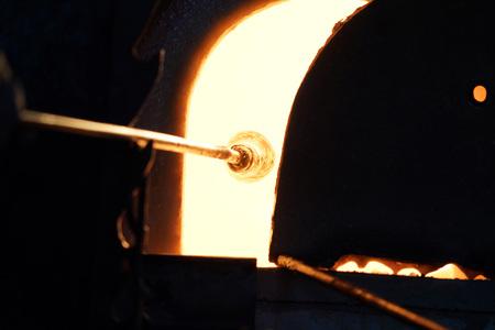 glass blow factory detail of work Stock fotó