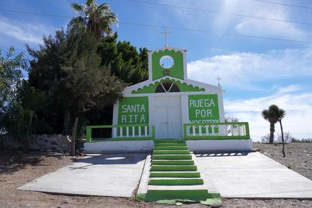 green and white Church Mission of Santa Ros Baja California Sur Zdjęcie Seryjne