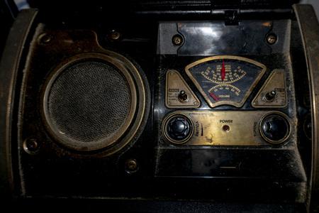 old radio detail close up