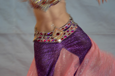 Oriental belly dancer beutiful move detail Stock Photo - 120285484