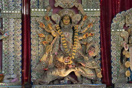 Kali god india statue detail