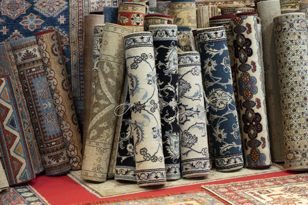 persian carpet colorful old antique vintage in the market 写真素材