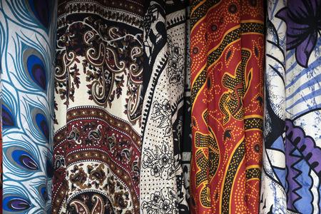 India kleding op de markt detail close-up Stockfoto