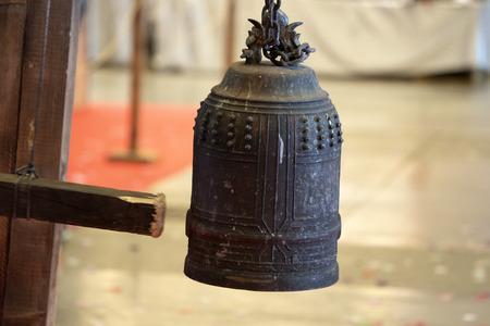 Japanese biddhist bell close up detail