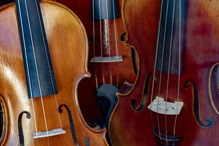 Violin detail close up musical instrument