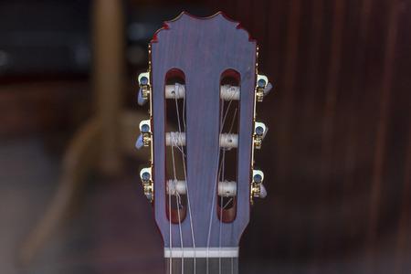 Acoustig guitar handle detail close up