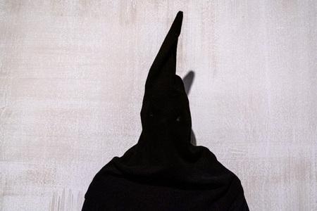 medieval executioner black dress tunic Reklamní fotografie