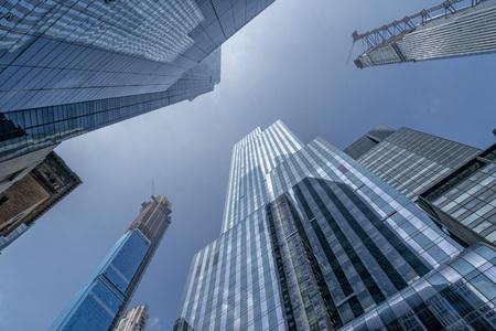 new york manhattan new skyscrapers under construction Stockfoto