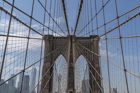 Most Brookliński w słoneczny dzień zobacz szczegóły Zdjęcie Seryjne