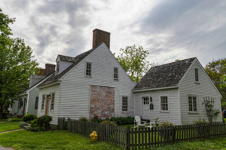 st michaels village maryland old historical houses of 1800 Stock Photo
