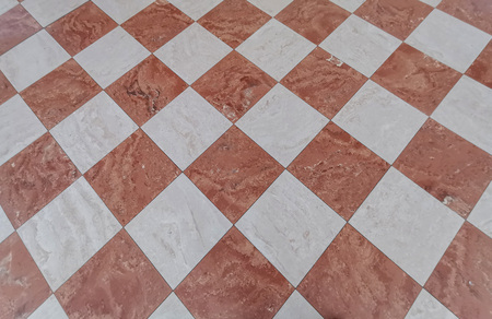 red and white tiles medieval floor background