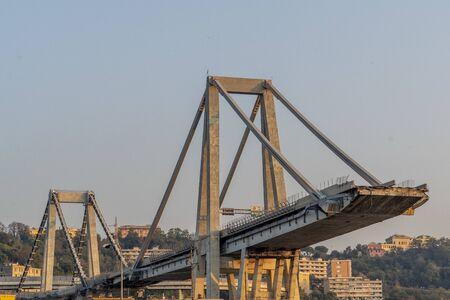 Morandi pont effondré à Gênes Italie Banque d'images