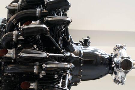 old czech propeller engine detail