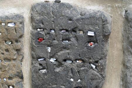jewish old cemetery in prague detail
