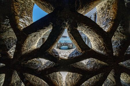 Venice whispers bridge ponte dei sospiri unusual view panorama Imagens