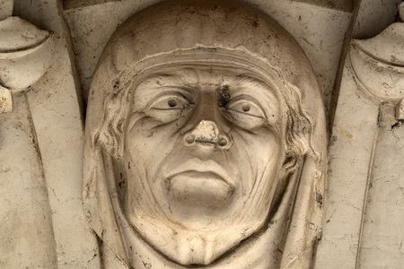 doge ducal palace venice capital of column wayside detail bas relief sculpture