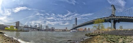 manhattan bridge view from dumbo panorama