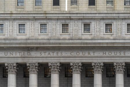 united states court house in new york city usa facade Stock fotó