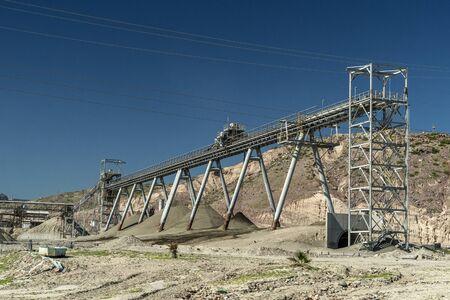 black phosphorus mine in california view detail close up Stock Photo