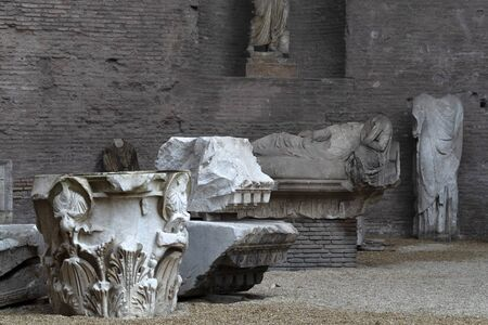 Bath of Diocletian in Rome view