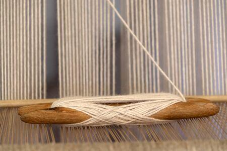 Ancient textile machine close up detail Banque d'images