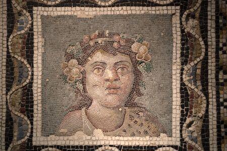 Ancient roman mosaic detail close up