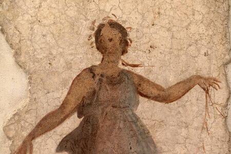 ancient roman painting pompei detail close up Banque d'images