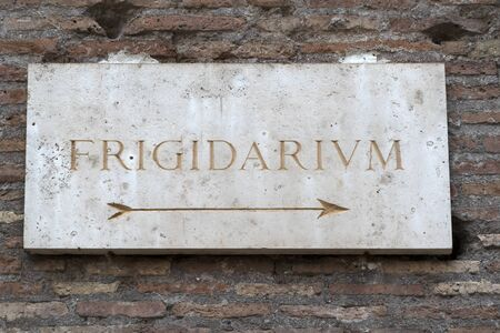 frigidarium sign in roman bath english translation cold place view