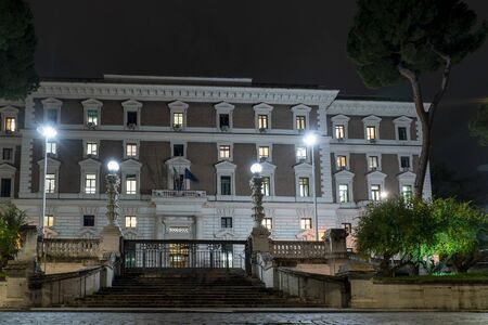 internal affair ministery in rome night view