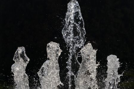 fountain water splash detail close up
