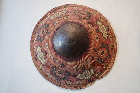Ottoman ancient shield  on white