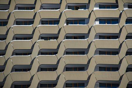 mountain condo windows detail in winter season