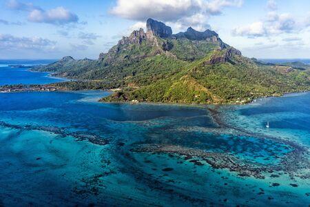 Bora Bora aerial view panorama landscape French Polynesia