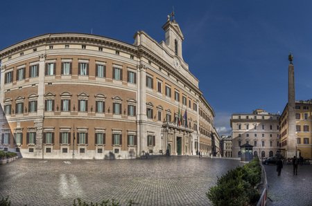 Parliament building Montecitorio palace in Rome Italy