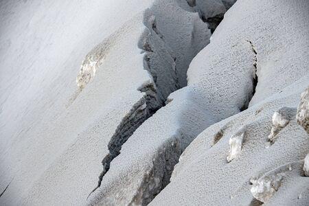 ice snow rift crevasse detail