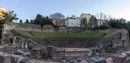 Triest Italy ancient roman amphitheater