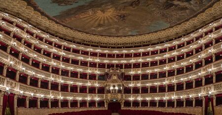 Saint Charles Royal Theater in Naples interior