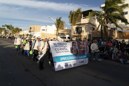 LA PAZ, MEXICO - FEBRUARY 22 2020 - Traditional Baja California Carnival with thousand of people, parade, food and dance. Sajtókép