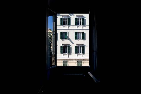 italian building view from a room detail
