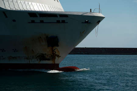 cruise ship prow bow detail close up Stock Photo