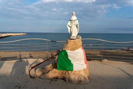 avola virgin mary statue by the sea Sicily