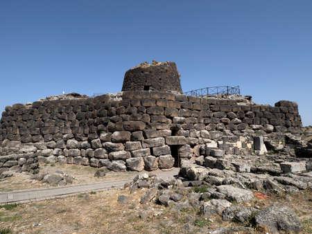 Santu Antine nuragic stone age Sardinia Nuraghe view