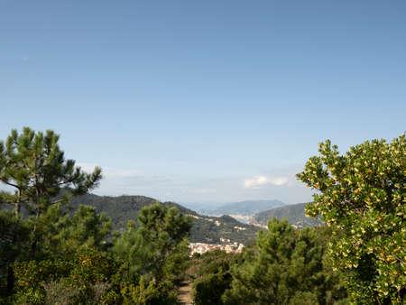 Riva trigoso Sestri Levante Aerial view Panorama