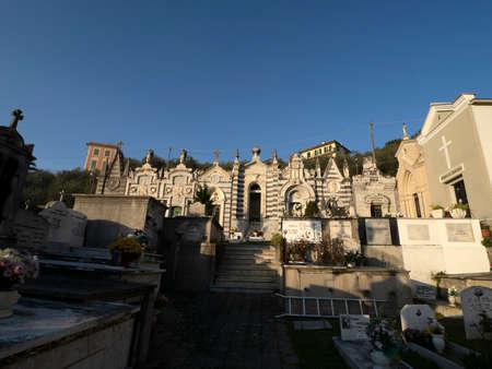Fieschi church basilica cemetery in Lavagna Italy Editorial
