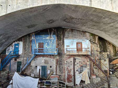 Fishermen house in Genoa Nervi Italy