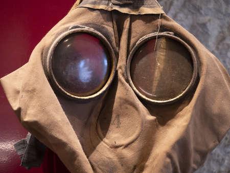 first world war wwi gas mask detail