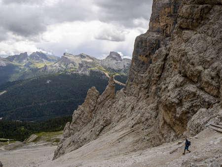tofane dolomites mountains panorama landscape