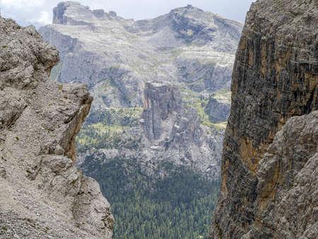 dolomites mountains panorama landscape from tofane Stockfoto