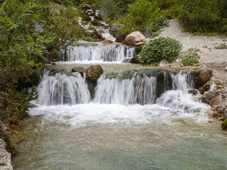 fanes creek dolomites mountains panorama landscape
