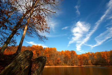 Triadelphia lake. Maryland Stock Photo